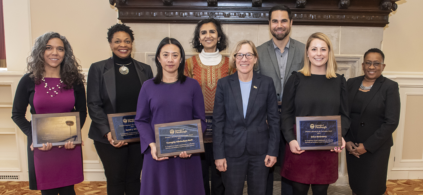 Awardees of the Provost's Award for Diversity in the Curriculum