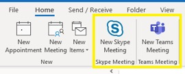Screen capture of the buttons to click when scheduling an audio conference through Outlook