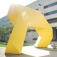 yellow sculpture by posvar