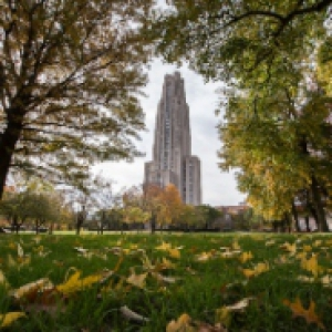 Fall photo of the Cathedral of Learning
