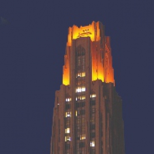 Cathedral of Learning victory lights