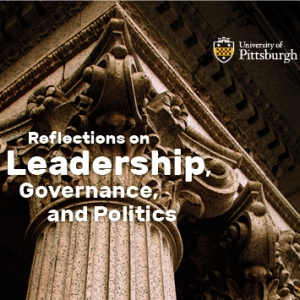 "Program cover for ""Reflections on Leadership, Governance and Politics"" event"