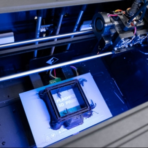 3D printer at the Vibrant Media Lab