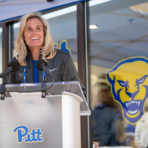 Heather Lyke at Nike Store at the Pitt Shop