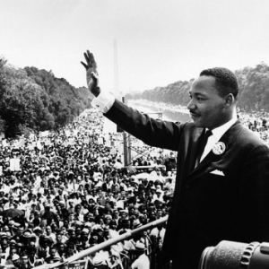 "Martine Luther King Jr. at his ""I Have a Dream"" speech in 1963 in Washington, DC"