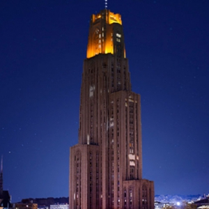 Cathedral of Learning with Victory Lights on