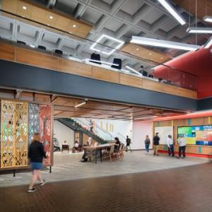 Global Hub interior, photo courtesy of Strada Architecture LLC