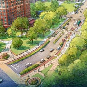 A rendering of Bigelow Boulevard