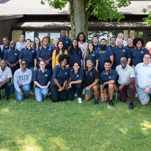 Faculty, staff and students at the Pitt STRIVE program's 2019 retreat.