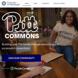 Pitt Commons homepage