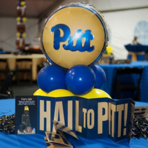 homecoming event table centerpiece